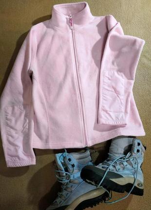 Кофта флисовая, нежно розовая, брендовая обувь в распродаже, в...