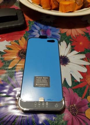 Чехол PowerBank для iPhone 5, 5S, SE 2200 mAh
