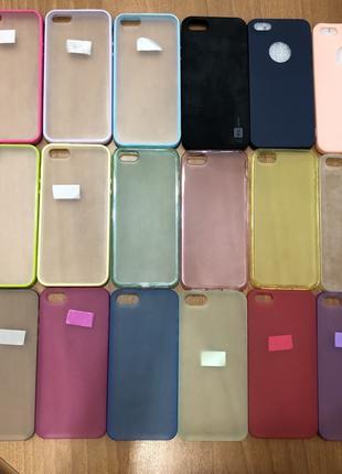 Продаю Остатки чехлов для iPhone 5/5S/SE - пленки -стекла чехлы