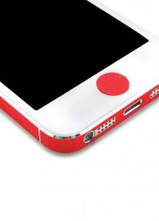 Наклейка на кнопку HOME для iPhone/iPad Красная infinity