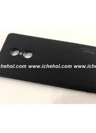 Силиконовый чехол для Xiaomi Redmi Note 4X черный
