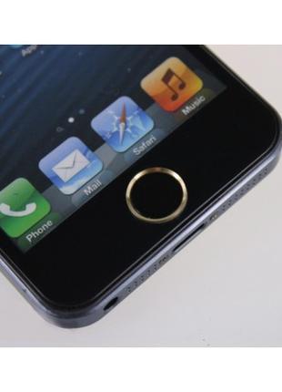 Наклейка на кнопку HOME для iPhone/iPad Черная/Золото