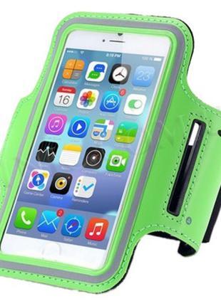 Спортивный чехол на руку ArmBand Belkin для iPhone 6 Green