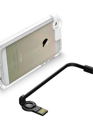 Чехол с USB кабелем светящийся CONNECT для iPhone 5/5S Черный ...