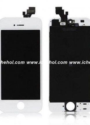 Оригинальный Дисплей iPhone 5 белый(LCD экран, тачскрин, стекл...