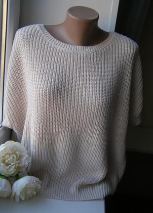 Selected femme пуловер пудра  хлопок m-l размер