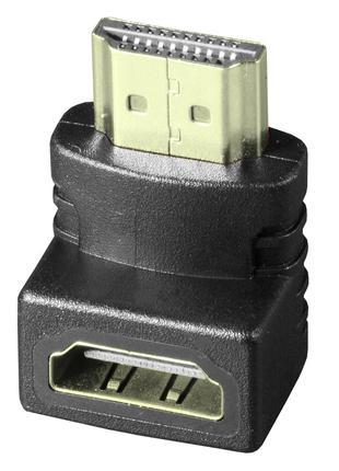 Переходник Lesko HDMI-HDMI 90° угловой (1277-2403)