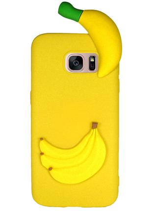 Чехол Cartoon Case 3D для Samsung G935 Galaxy S7 Edge Бананы (...