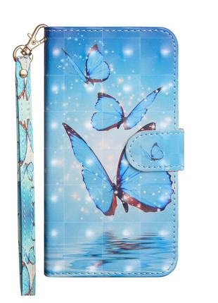 Чехол-книжка Color Book для LG Q7 Бабочки (hub_Bhpp65248)