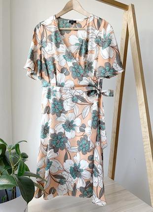 Платье на запах в квіти