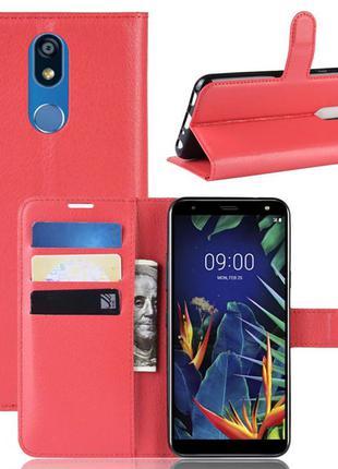 Чехол-книжка Litchie Wallet для LG K40 Красный (hub_ixLt59398)