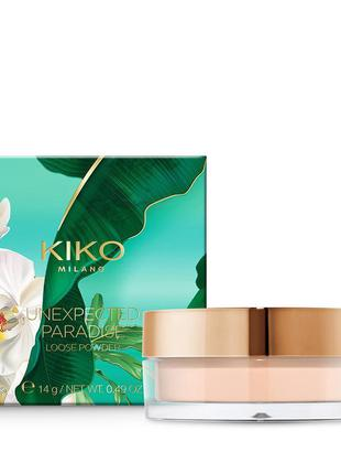 Пудра kiko milano unexpected paradise loose powder