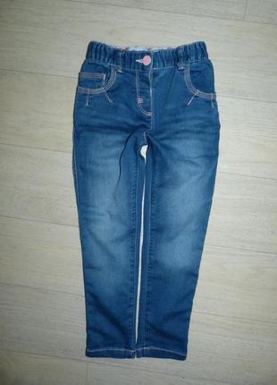 Стрейчевые джинсы, скинни nut meg 2-3 года