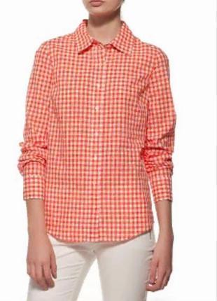 Стильная теплая байковая  натуральная рубашка в клетку размер ...