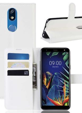 Чехол-книжка Litchie Wallet для LG K40 Белый (hub_pIgV29541)