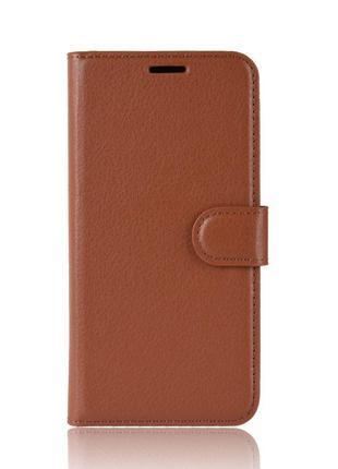 Чехол-книжка Litchie Wallet для Asus Zenfone 6 ZS630KL Brown (...