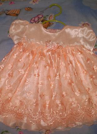 Красивое платье на годик