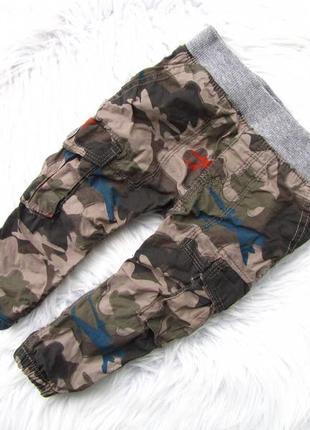 Стильные утепленные  штаны брюки hema