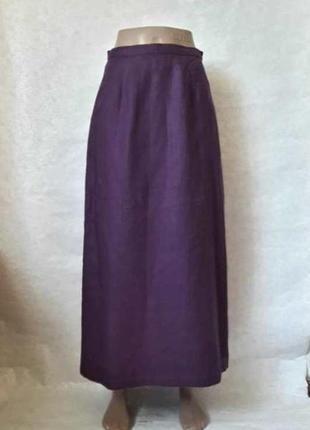 Новая лёгкая летняя юбка в пол сот 100 % льна приятного цвета ...