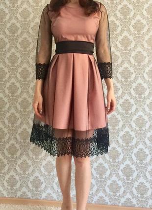 Шикарное платье кружево гипюр