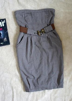 Сарафан платье в клетку xs