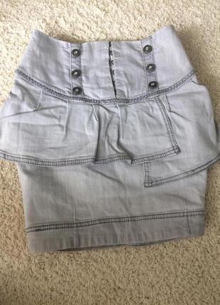 Красивая юбка джинс