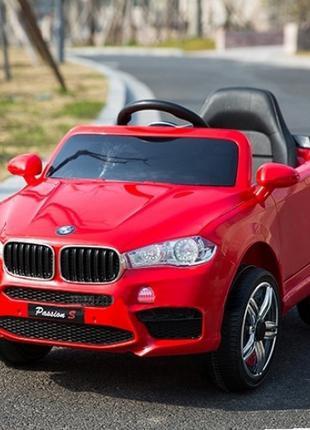 Детский электромобиль BMW X5 (красный цвет) с пультом управления