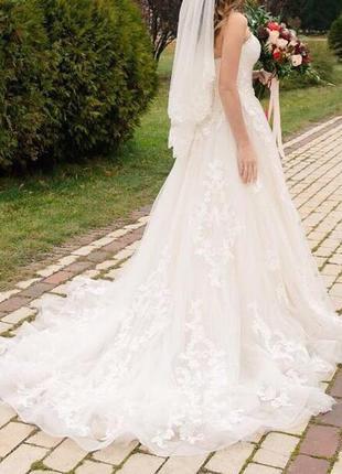 Красивейшее свадебное платье nora naviano
