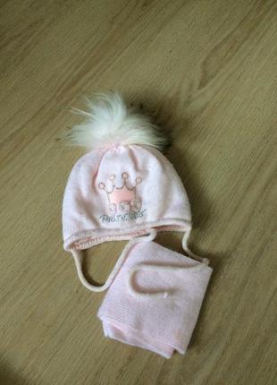 Шапка зима + шарф