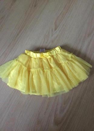 Супер юбка-шорты с фатином 12-18 мес