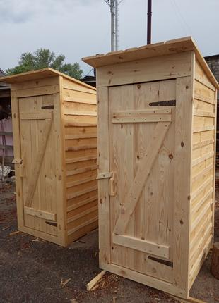 Дачный туалет с тумбой, туалет из дерева, летний душ