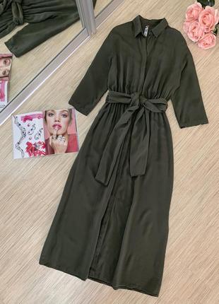Платье миди оттенка хаки