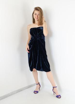George раскошное бархатное платье-бюстье на тонких бретелях с ...