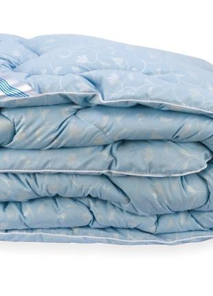 Одеяло Лебяжий Пух Leleka-Textile Евро 200х220 Голубой Вензель...
