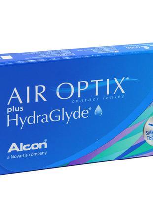 Air Optix plus HydraGlyde контактные линзы -4.0 (Optic)