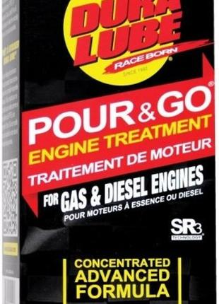 Dura Lube Pour & Go Engine Treatment. Конд. металла для двигателя
