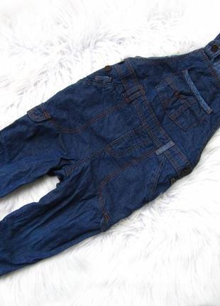 Крутой  джинсовый утепленный полукомбинезон george