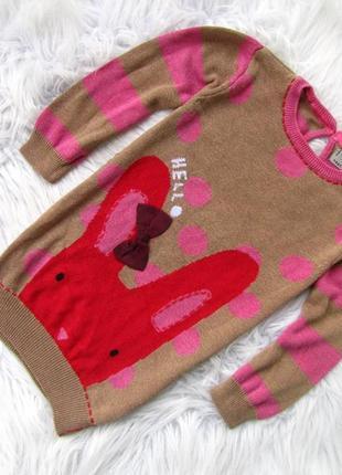 Теплый платье свитер туника next