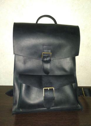 Мужской кожанной рюкзак (ручной работы)