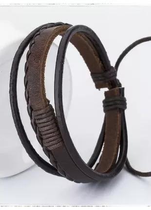 Браслет на руку кожаный (унисекс)