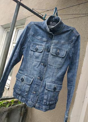 Куртка джинсовка весенняя джинсовая пиджак жакет весенний