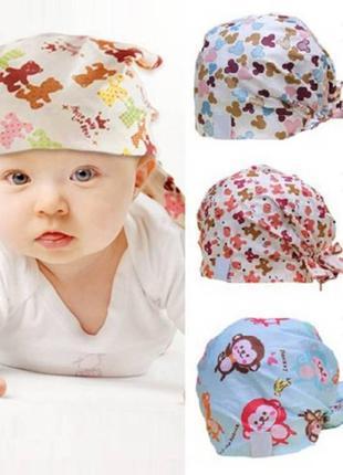 Детская летняя шапка бандана