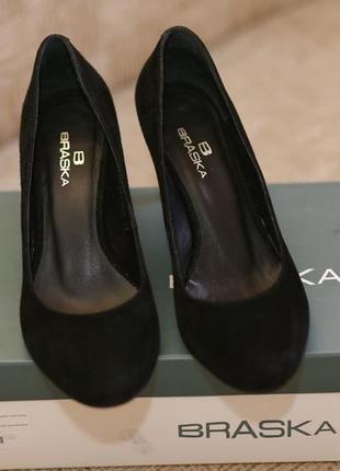 Замшивые туфли braska