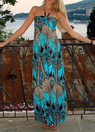 Сарафан, длинный сарафан, летнее платье, длинное платье