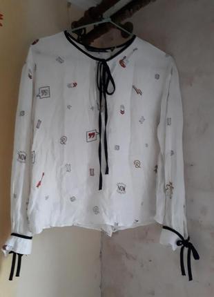 Белая блуза, рубашка, кофта