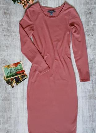 Длинно платье, платье цвет пудра, платье миди