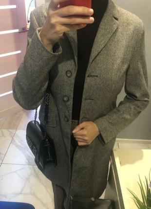 Пальто классическое шерстяное кардиган