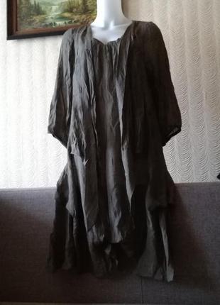 Платье оверсайз свободного кроя размер м