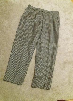 Мужские брюки в клетку 100% шерсть brax