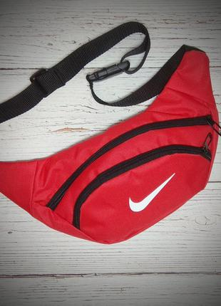 Поясная сумка, Бананка, барсетка найк, NIKE. Красная